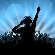 Dj disco represents music dancing and deejay Stock Illustration