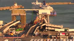 Time Lapse at Port of Dover Stock Footage