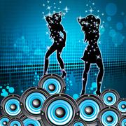 Disco music shows sound party and melody Stock Illustration