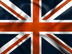 union jack means english flag and britain - stock illustration