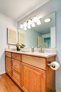 bathroom vanity cabinet - stock photo