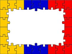 Columbia jigsaw means south american and copy Stock Illustration