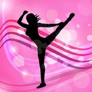 yoga dancing represents meditated disco and posing - stock illustration