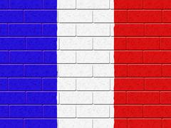 French flag represents blank space and concrete Stock Illustration