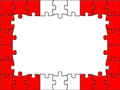Stock Illustration of austrian jigsaw shows text space and copy