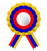 Stock Illustration of columbian rosette means south america and celebration