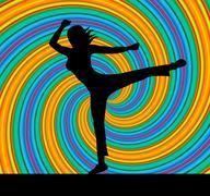 yoga pose represents harmony balance and zen - stock illustration