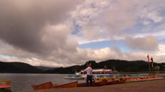 Time lapse clouds and ferries on Lake Titisee, Germany. Stock Footage