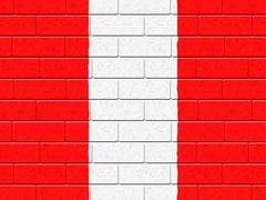 Stock Illustration of austrian flag means empty space and construction
