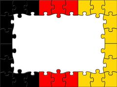 Germany jigsaw shows text space and copy Stock Illustration