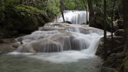 Stock Video Footage of Erawan Waterfall in Thailand Time Lapse