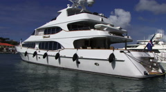 Stock Video Footage of St Bart luxury yacht holiday sun carribean