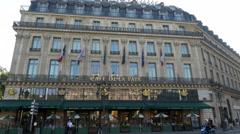 Cafe De La Paix - Paris France - HD 4k+ Stock Footage