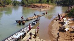 Burmese village near Inle lake, simple lifestyle Stock Footage