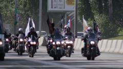 Stock Footage Bikers on the Higway Sequence Stock Footage