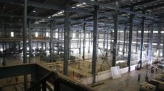 Interior of factory Stock Footage