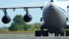 4K UHD Stock footage Military Cargo Plane Taxiing Stock Footage