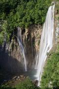Stock Photo of waterfall, plitvice lakes national park, unesco world heritage site, croatia,