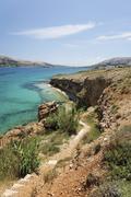coast, pag island, zadar, croatia, dalmatia, europe - stock photo