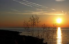 Sunset, vir island, dalmatia, croatia, europe Stock Photos