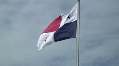 Flag Panama flapping in wind Stock Footage