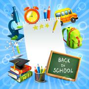 Stock Illustration of Back to school concept template