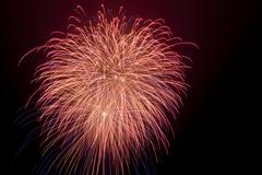 Stock Photo of new year's eve fireworks in helgoland, helgoland, schleswig-holstein, germany
