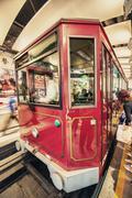 Stock Photo of hong kong - apr 22, 2014: peak train takes passengers to victoria peak for ci