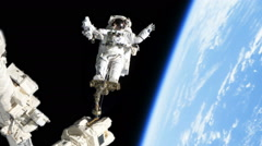 0179 Astournot Spacewalk by Earth, HD Stock Footage