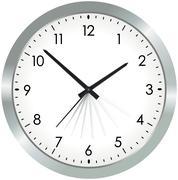 Stock Illustration of simple metal analogue clock