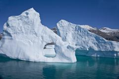 Large iceberg in southern greenland Stock Photos