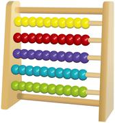 Wooden or plastic colored abacus toy Stock Illustration