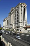building of cesars palace hotel and casino, las vegas, nevada, usa, north ame - stock photo