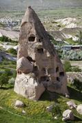 Stock Photo of rock dwelling, uchisar, cappadocia, turkey