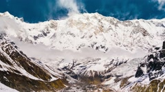 4k Timelapse of Annapurna I mountain Stock Footage