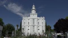 St George Utah LDS Mormon Temple day 4K 134 Stock Footage
