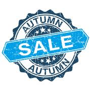 Stock Illustration of autumn sale grungy stamp isolated on white background