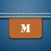 m size clothing label - vector - stock illustration