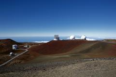 mauna kea observatory, mauna kea, shield volcano, big island, hawaii, usa - stock photo