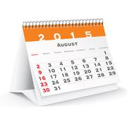 August 2015 desk calendar - vector Stock Illustration
