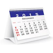december 2015 desk calendar - vector - stock illustration