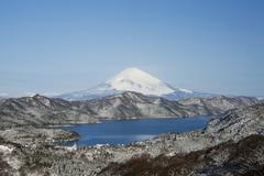 lake ashi, hakone lake, or ashinoko lake, hakone, japan, asia - stock photo