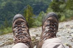 Hiking, trekking, pair of hiking boots, lårdalstigen near dalen, lardalstige Kuvituskuvat