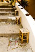 Street with stairs, porto azzurro, elba island, italy, europe Stock Photos