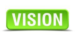 Stock Illustration of vision green 3d realistic square isolated button
