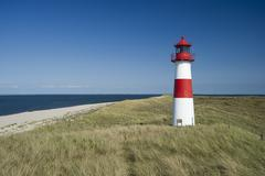 list-ost lighthouse, list, sylt, schleswig-holstein, germany, europe - stock photo