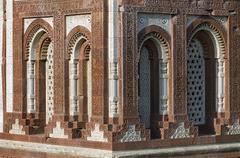 qutb minar minaret, unesco world cultural heritage, new delhi, india, asia - stock photo