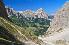 dolomiti - colfosco in val badia - stock photo