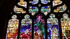 St Giles' Cathedral Window Stock Footage