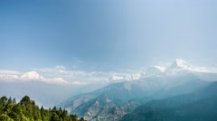 4k Timelapse view of Annapurna and Dhaulagiri mountains range Stock Footage